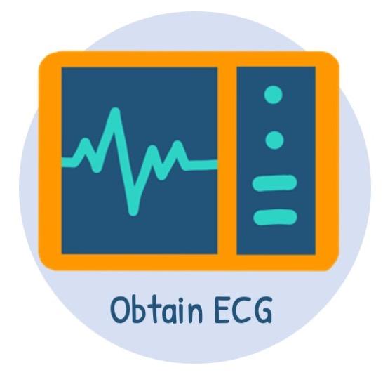 Confirm diagnosis with ECG