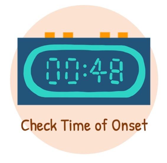 Check time of onset of AF / symptoms