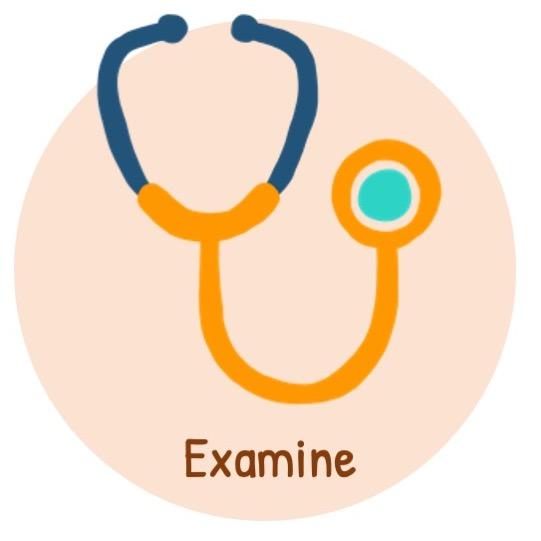 Examine for associated diseases (valvular heart disease)